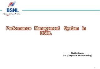 Madhu Arora, GM (Corporate Restructuring)