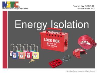 Energy Isolation