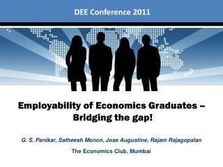 Employability of Economics Graduates    Bridging the gap