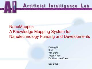 NanoMapper:  A Knowledge Mapping System for Nanotechnology Funding and Developments