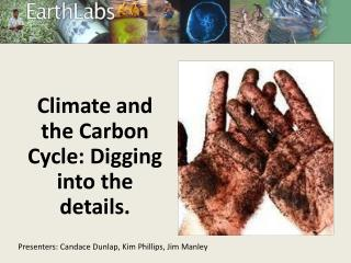 Climate and the Carbon Cycle: Digging into the details.