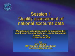 Session 1  Quality assessment of national accounts data