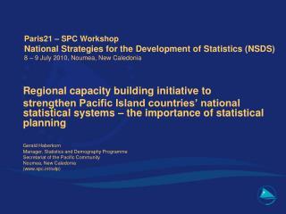 Regional capacity building initiative to