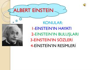 ALBERT EİNSTEİN