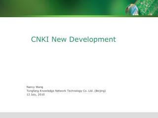 CNKI New Development