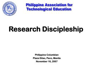 Research Discipleship