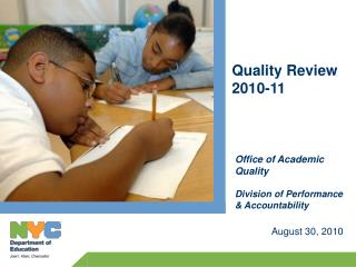 Changes to Quality Review in 2010-11