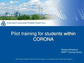Pilot training for students within CORONA