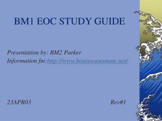 BM1 EOC STUDY GUIDE