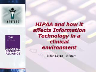 HIPAA and how it affects Information Technology in a clinical environment