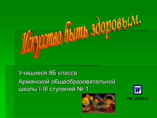 Учащиеся 9Б класса Армянской общеобразовательной школы  I-III  ступеней № 1