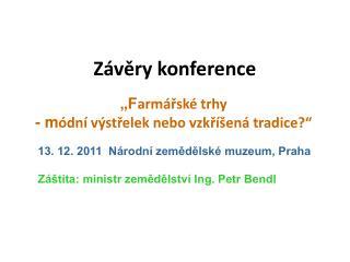 Závěry konference