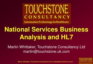 National Services Business Analysis and HL7