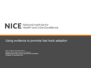 Using evidence to promote fast track adoption