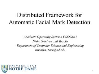 Distributed Framework for Automatic Facial Mark Detection