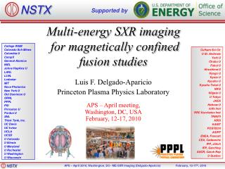 Multi-energy SXR imaging  for magnetically confined fusion studies