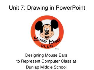 Unit 7: Drawing in PowerPoint