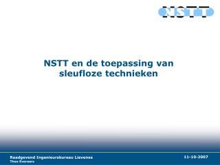 NSTT en de toepassing van sleufloze technieken