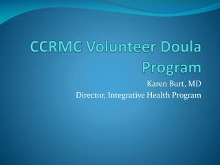 CCRMC Volunteer Doula Program