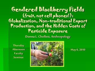 Thursday Afternoon Faculty Seminar