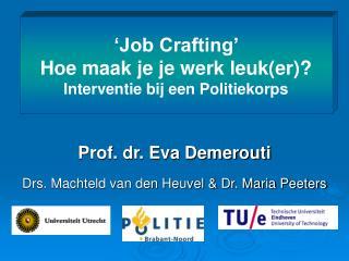 Prof. dr. Eva Demerouti Drs. Machteld van den Heuvel & Dr. Maria Peeters
