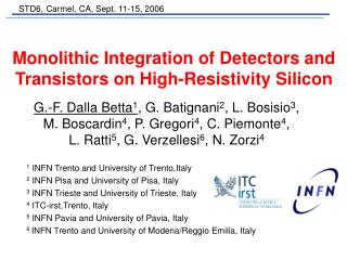 Monolithic Integration of Detectors and Transistors on High-Resistivity Silicon