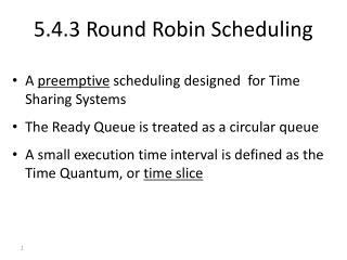 5.4.3 Round Robin Scheduling