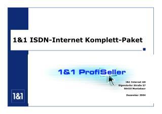 1&1 ISDN-Internet Komplett-Paket