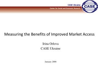 Measuring the Benefits of Improved Market Access