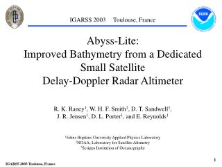 Abyss-Lite:  Improved Bathymetry from a Dedicated Small Satellite  Delay-Doppler Radar Altimeter