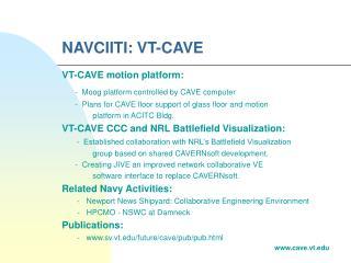 NAVCIITI: VT-CAVE