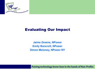 Evaluating Our Impact