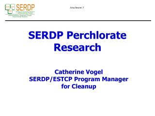 SERDP Perchlorate Research