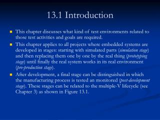 13.1 Introduction