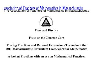 The Association of Teachers of Mathematics in Massachusetts