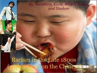 Racism in the Late 1800s  (with a focus on the Chinese)