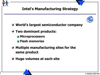 Intel's Manufacturing Strategy