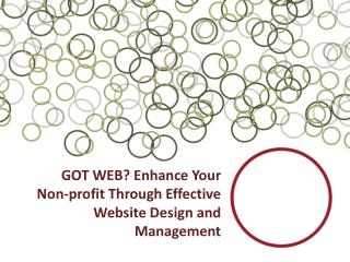 GOT WEB? Enhance Your Non-profit Through Effective Website Design and Management