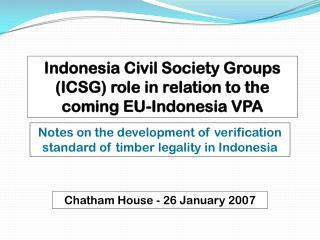 Chatham House - 26 January 2007