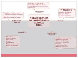 NORMA TECNICA DE COMPETENCIA LABORAL  NTCL