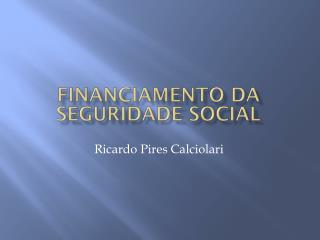 Financiamento da Seguridade social