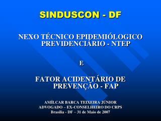 SINDUSCON - DF