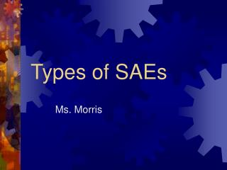 Types of SAEs