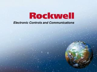 Electronic Controls and Communications