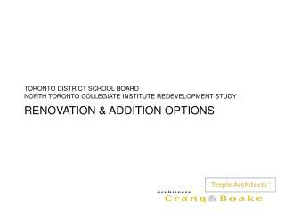 RENOVATION & ADDITION OPTIONS