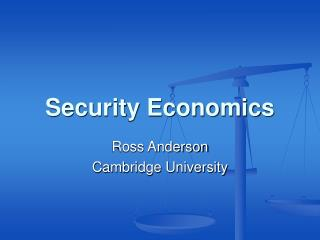 Security Economics
