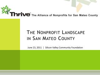 The Nonprofit Landscape in San Mateo County