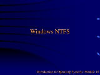 Windows NTFS