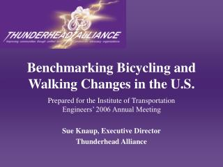 Benchmarking Bicycling and Walking Changes in the U.S.
