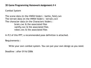 3D Game Programming Homework Assignment # 4 Combat System